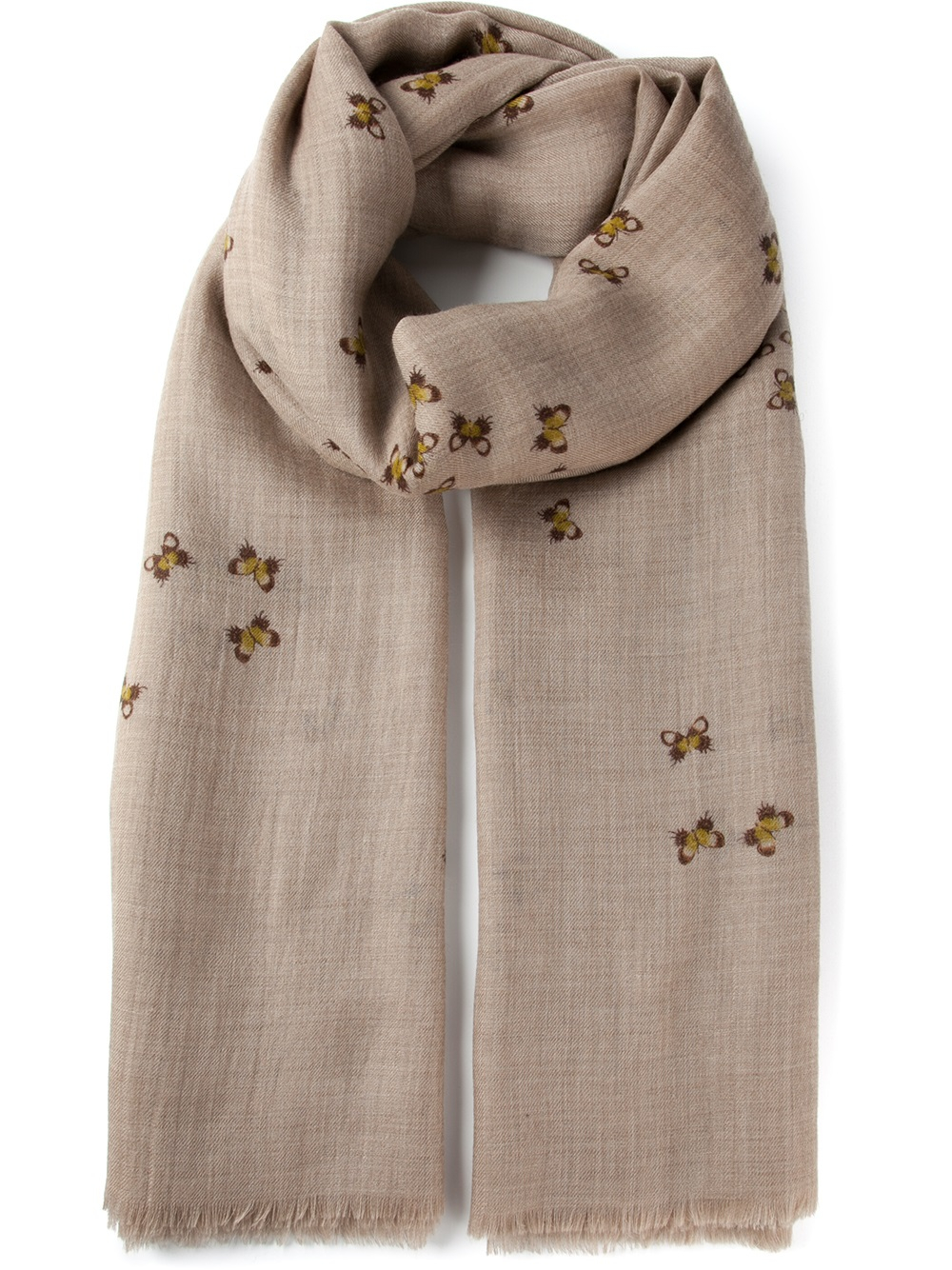 8671e4607d34 Bottega Veneta Printed Scarf in Natural - Lyst