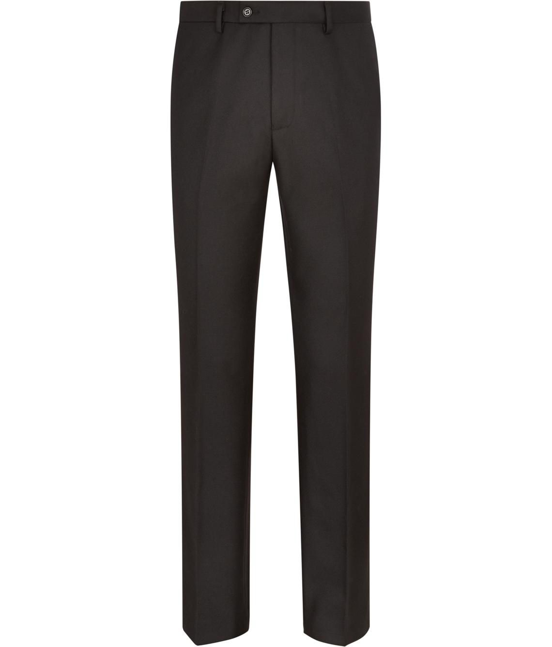 Austin Reed Wool Flat Front Twill Trousers In Black For Men Lyst