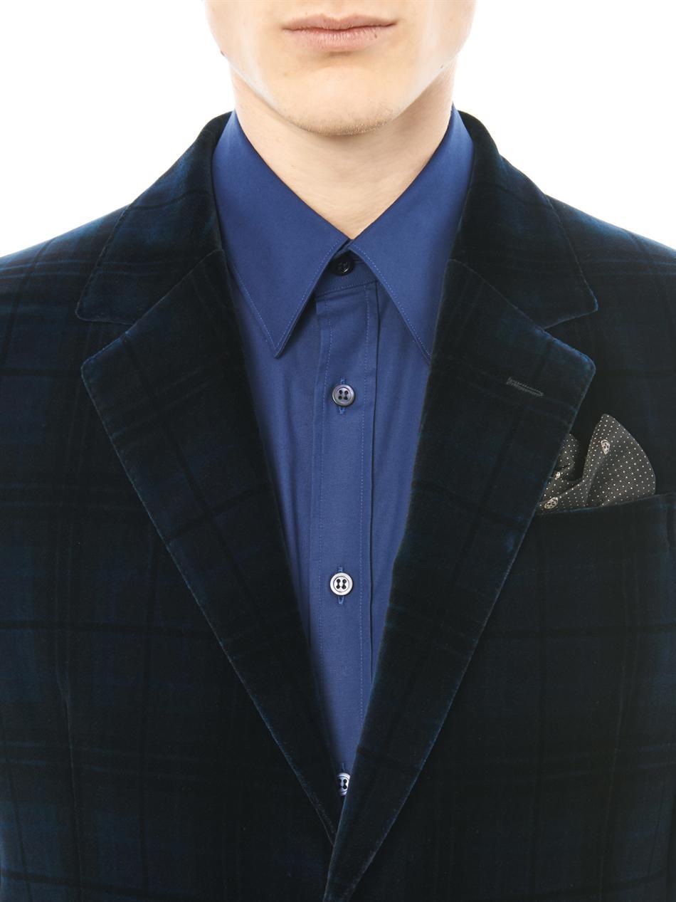 783225946c742 Alexander McQueen Skull and Polkadot Silk Pocket Square in Black for ...