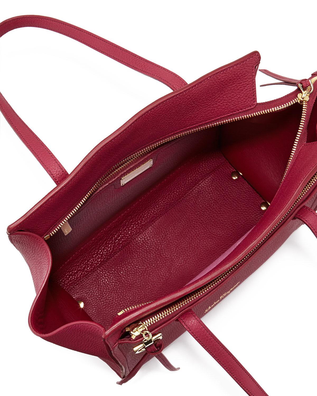 154f7b1c9678 Lyst - Ferragamo Amy Gancini Small Shopper Tote Bag in Red