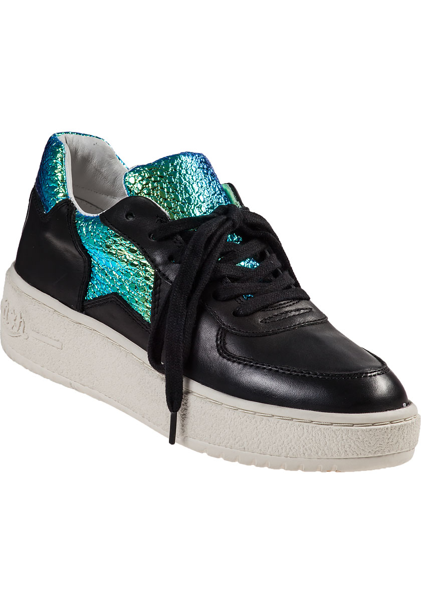 Lyst - Ash Fool Platform Sneaker Black Leather in Black