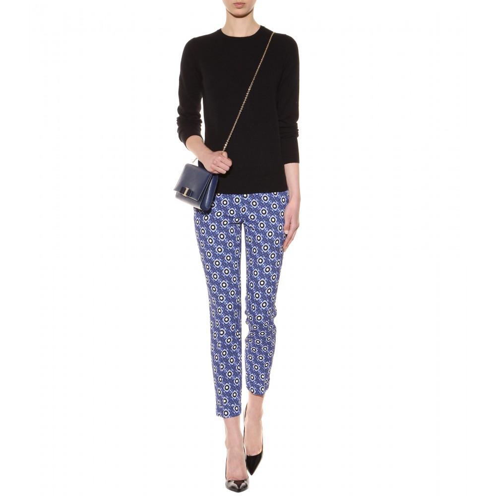 e50c1cf624a8 Lyst - Ferragamo Ginny Small Leather Shoulder Bag in Blue