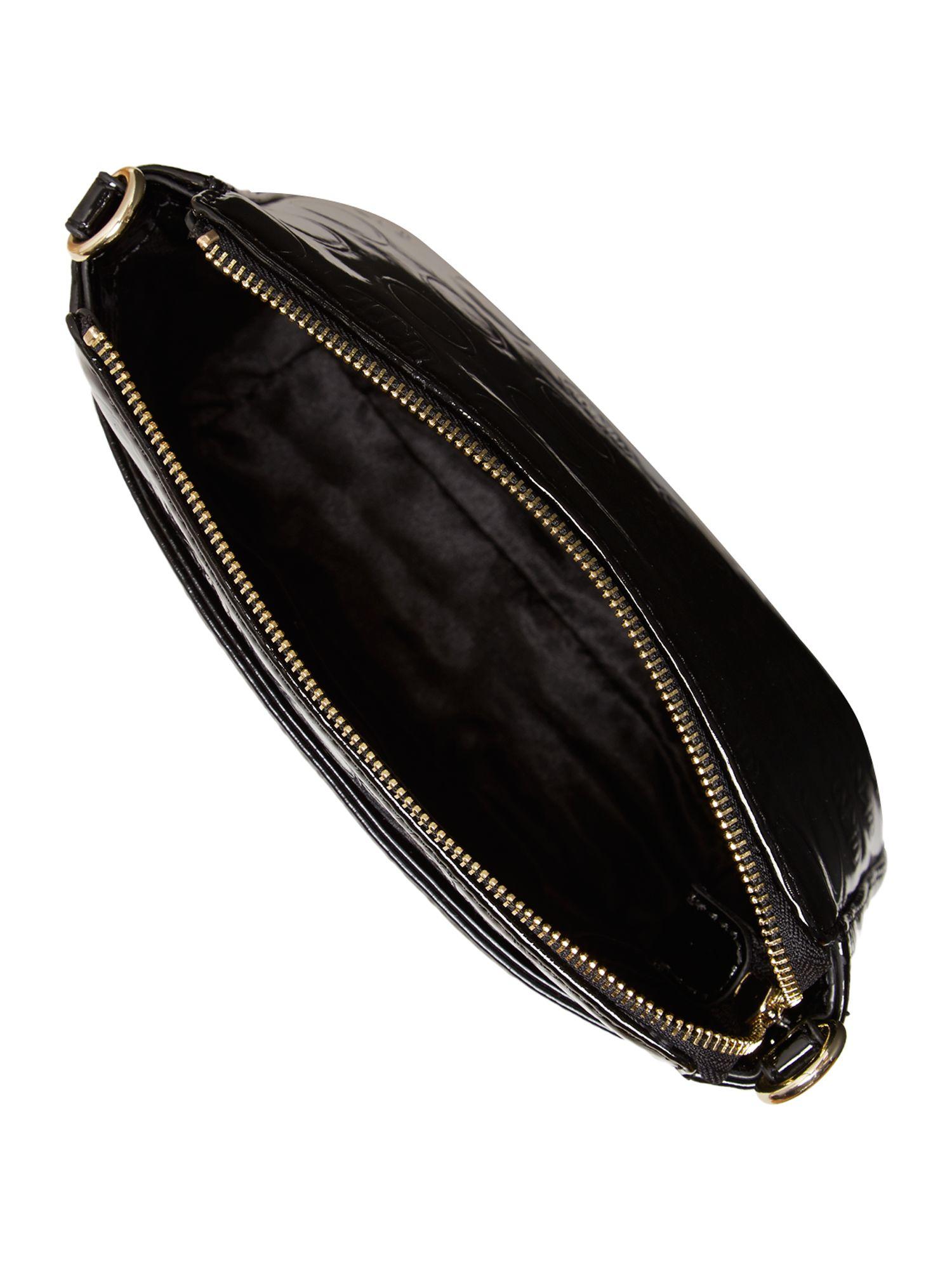 DKNY Patent Coin Black Cross Body Bag