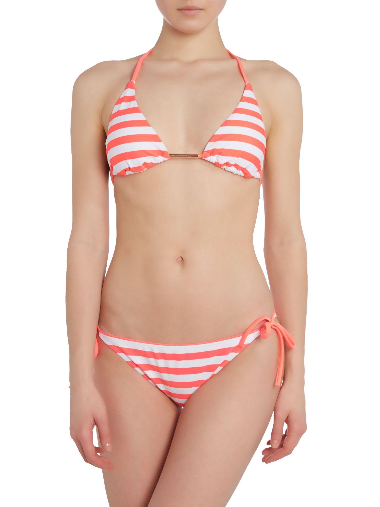 Ted Baker Neon Loop Tie Side Bikini Pant In Pink Lyst