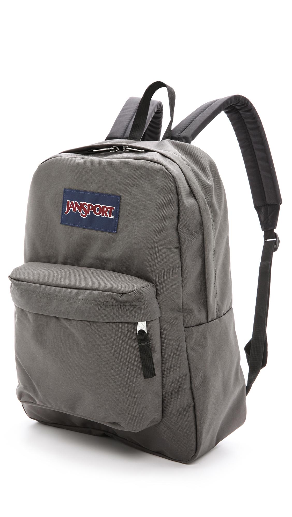 Jansport Superbreak Backpack in Gray for Men | Lyst