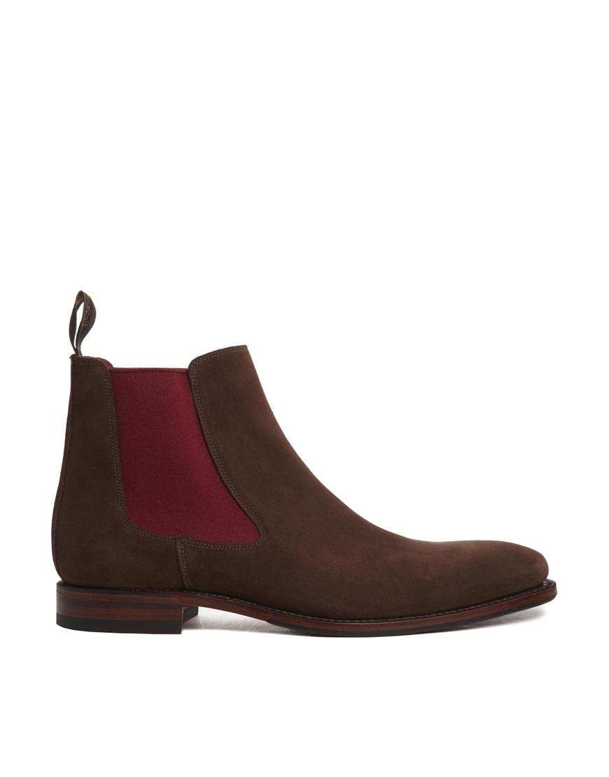 loake suede chelsea boots in brown for men lyst. Black Bedroom Furniture Sets. Home Design Ideas