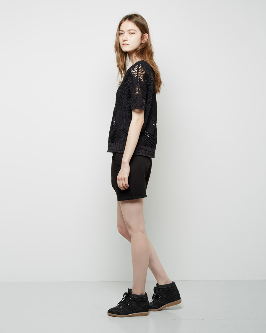 Isabel marant Bobby Low-Top Sneaker in Black | Lyst