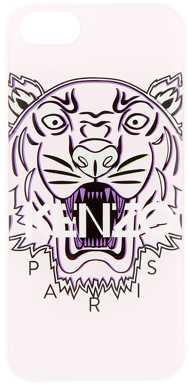 Lyst Kenzo Pink Tiger Logo Iphone 5 Case In Pink