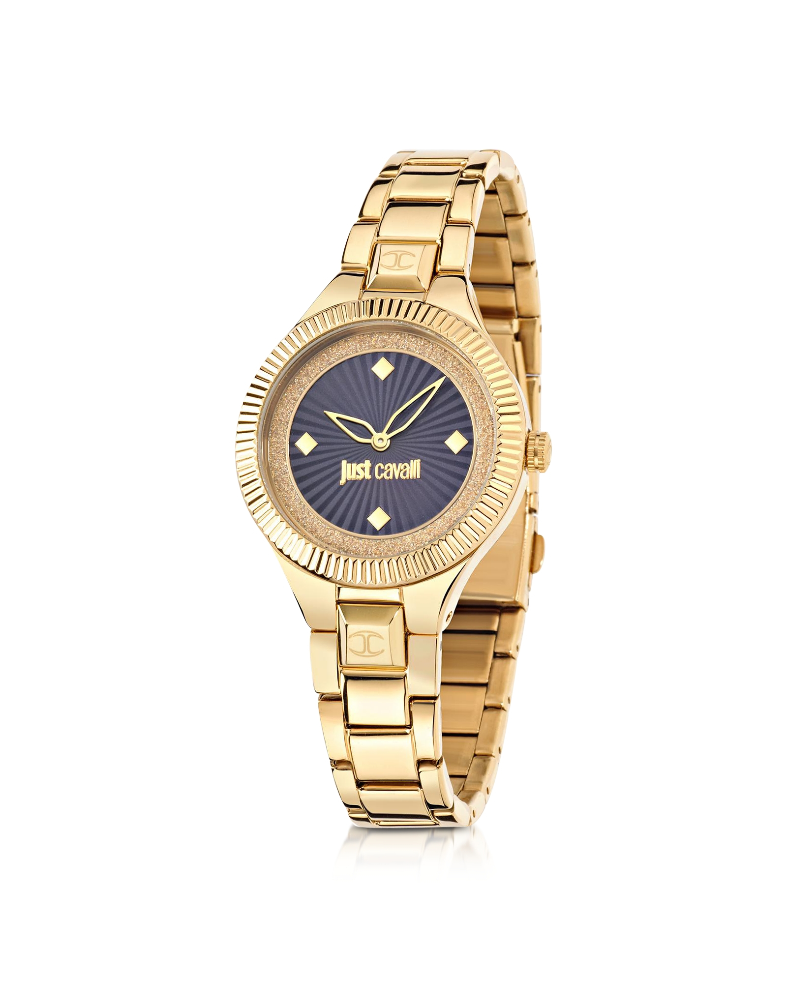 just cavalli just gold tone stainless steel s