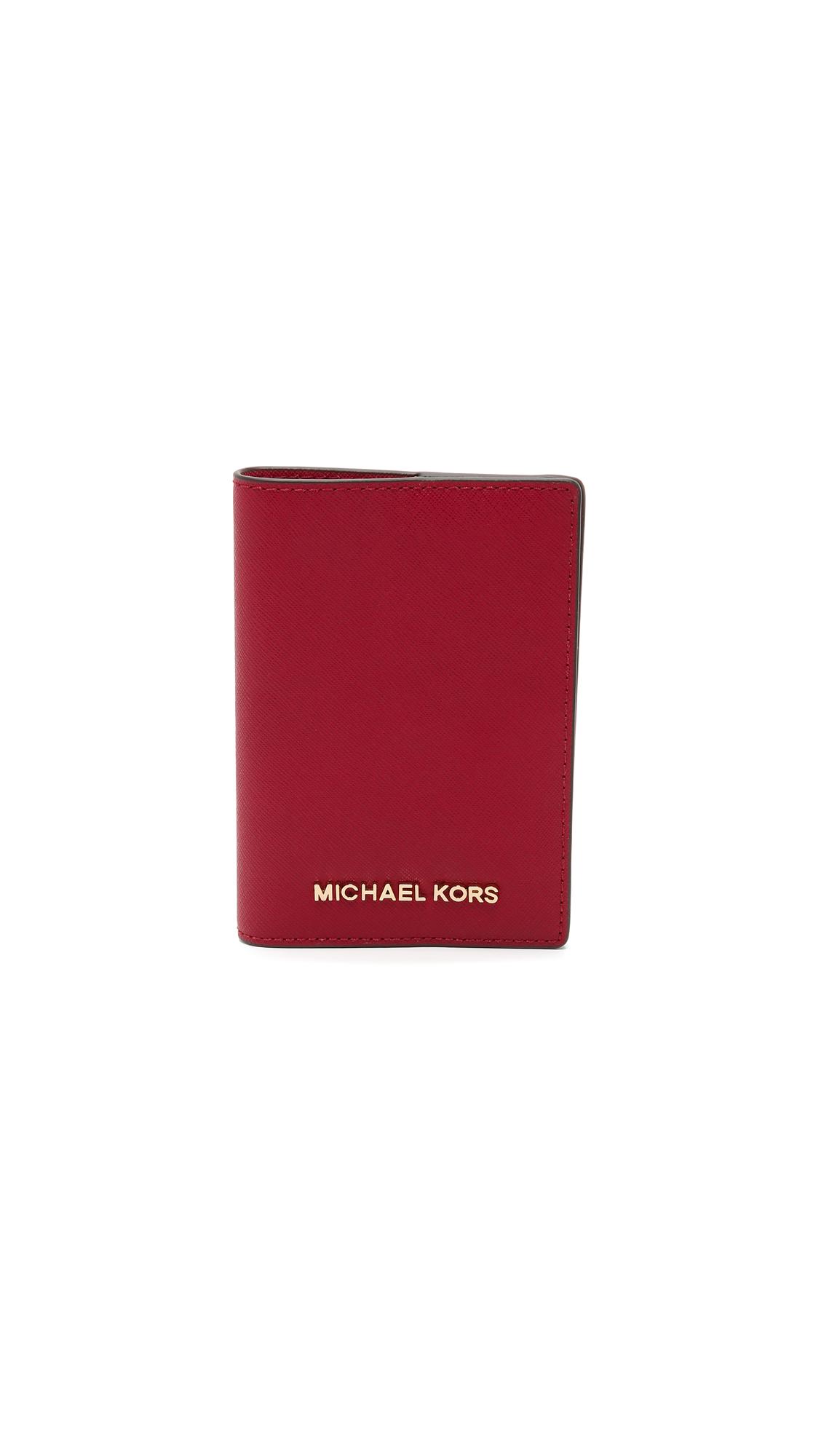 d8911d2c15cb MICHAEL Michael Kors Red Jet Set Passport Case - Cherry