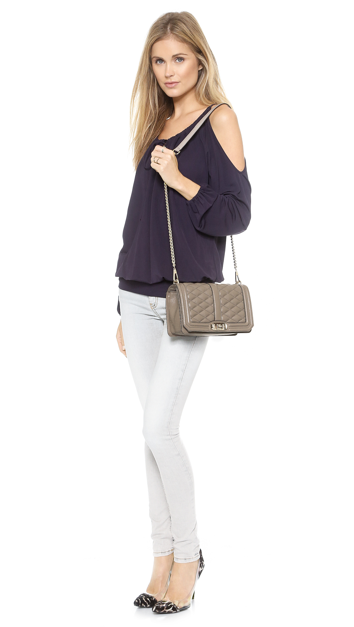 Rebecca Minkoff Love Cross Body Bag - Taupe in Natural