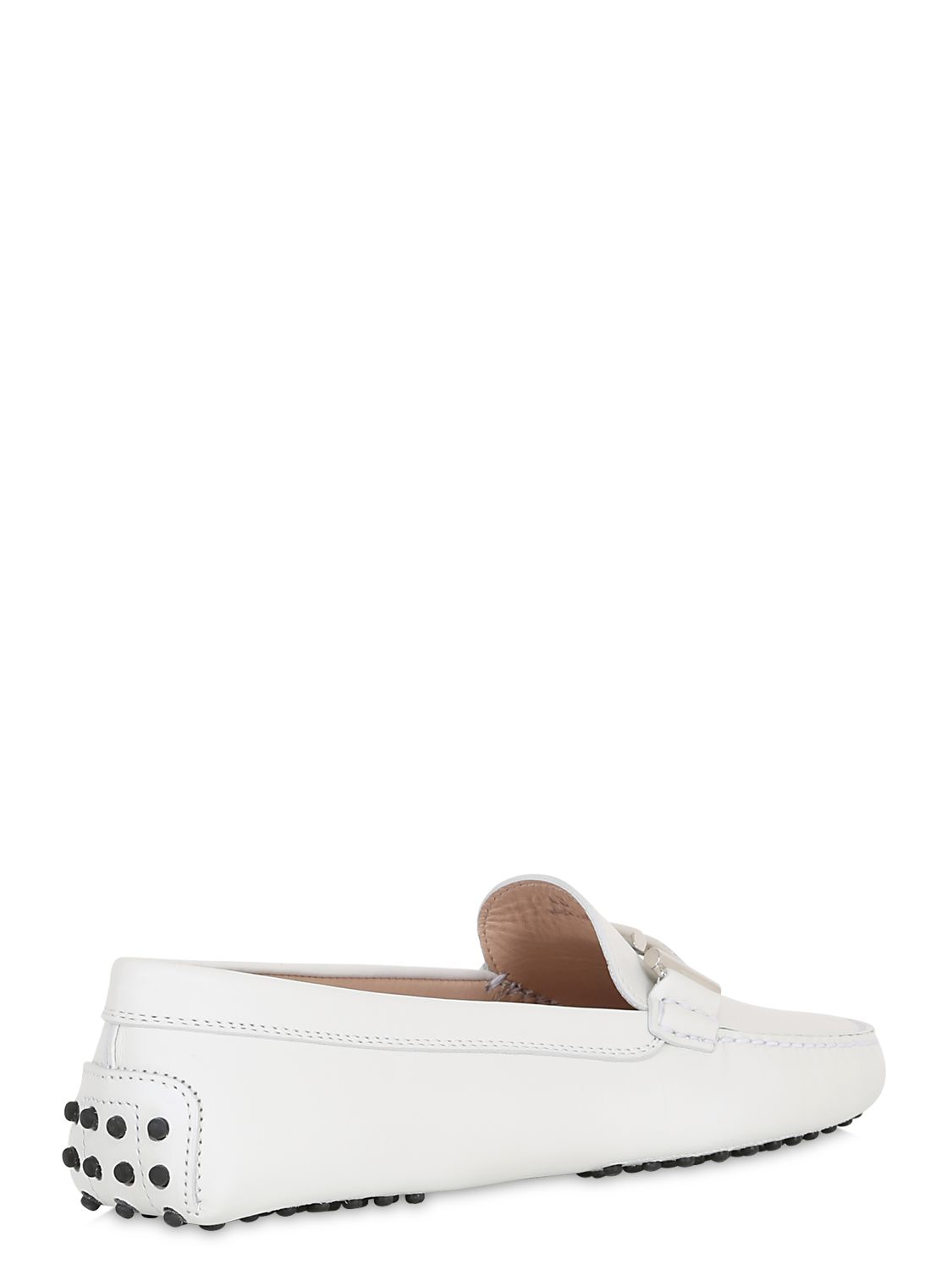 tod s gommino t leather driving shoes in white lyst