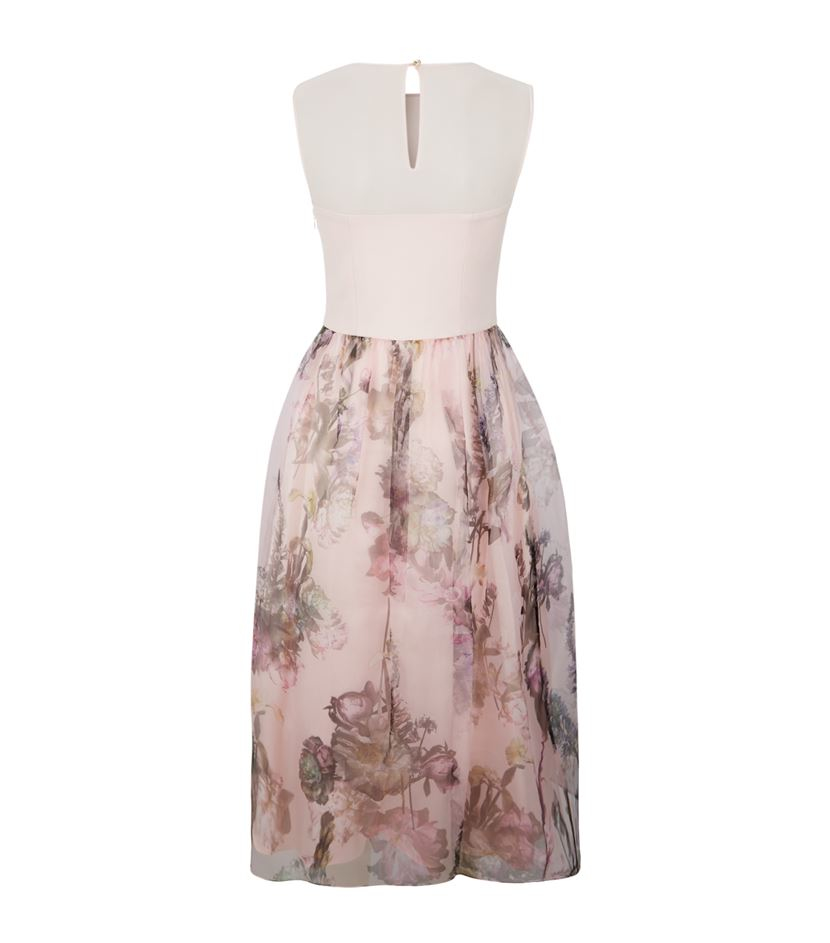 580fe1039 Ted Baker Faunia Torchlit Floral Ballet Dress in Pink - Lyst