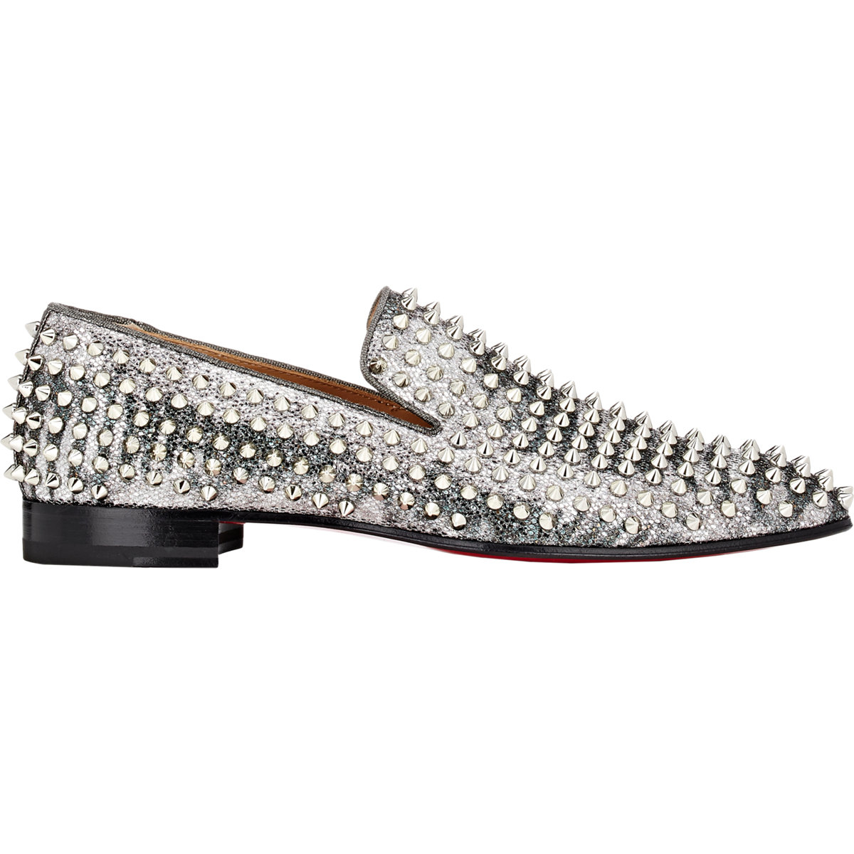 04389cc144bf Christian Louboutin Spiked Dandelion Loafers in Metallic for Men - Lyst