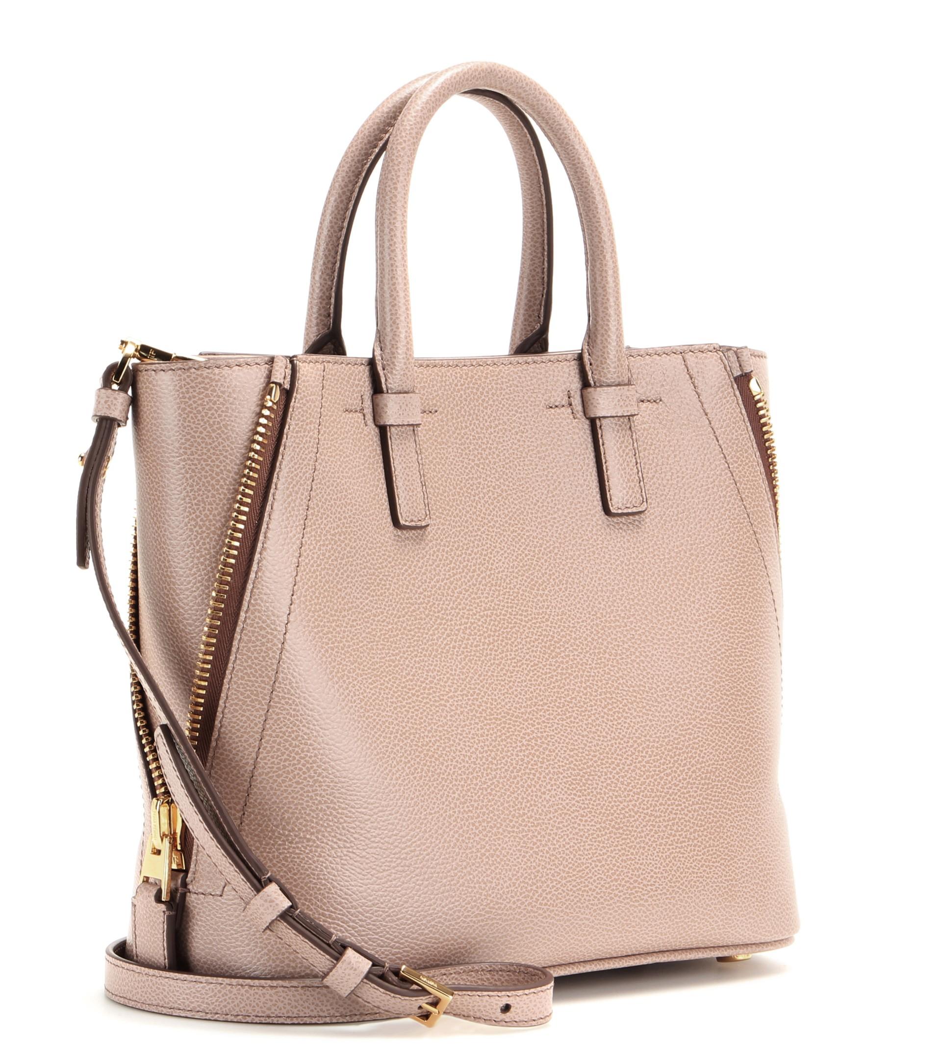 Tom ford Jennifer Leather Shoulder Bag in Pink | Lyst