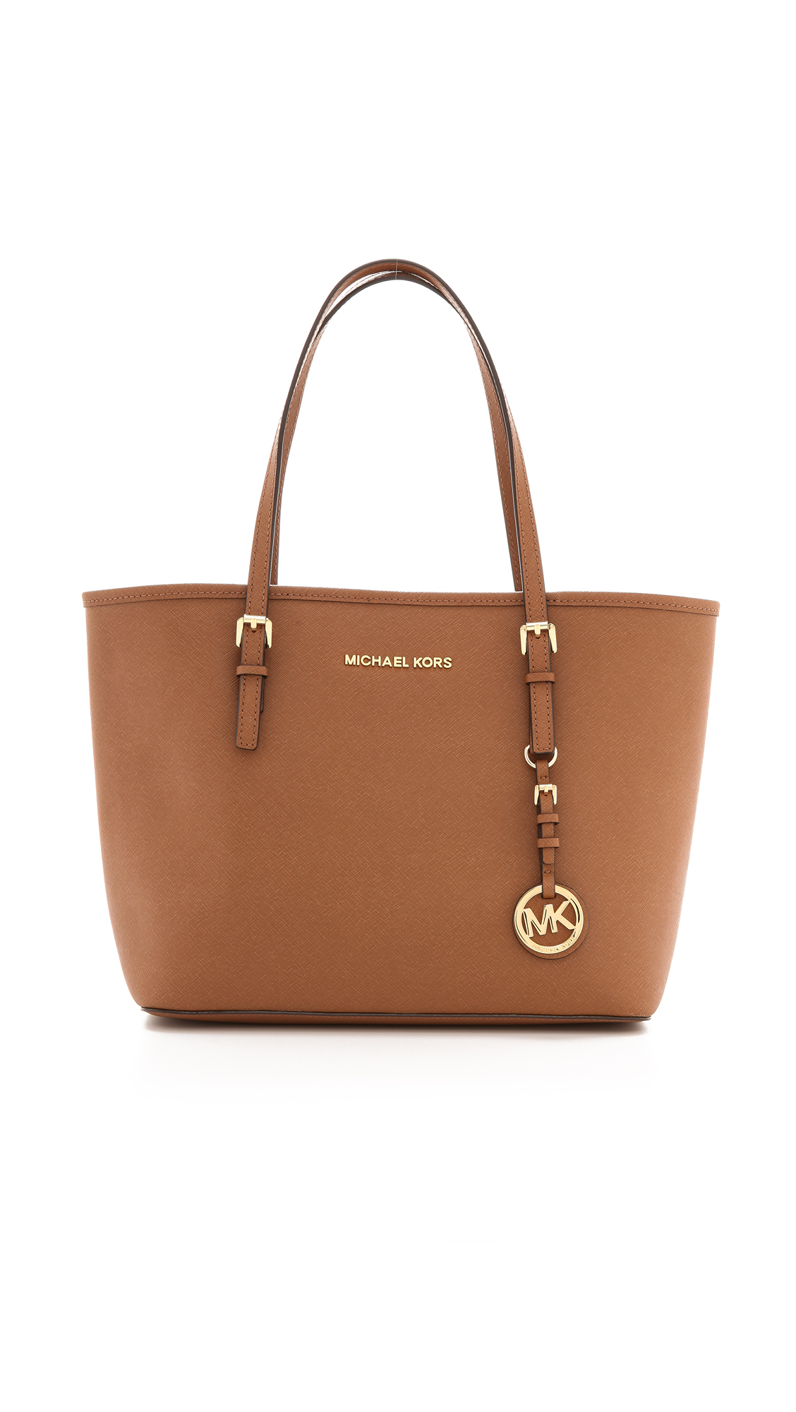 MICHAEL Michael Kors Small Jet Set Travel Tote - Luggage in Brown - Lyst 5a4c03a149