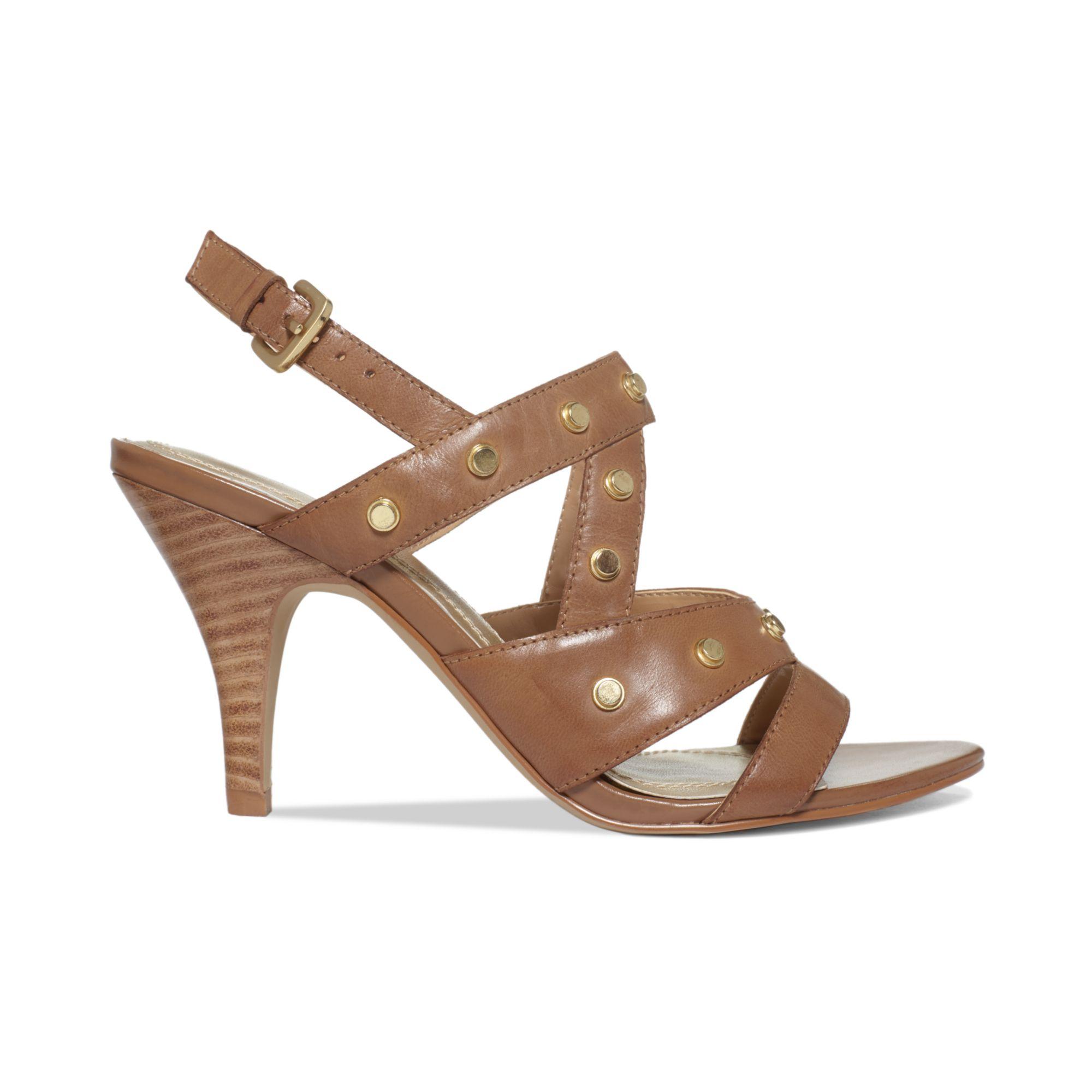 Lyst Tahari Womens Claire Mid Heel Sandals In Brown