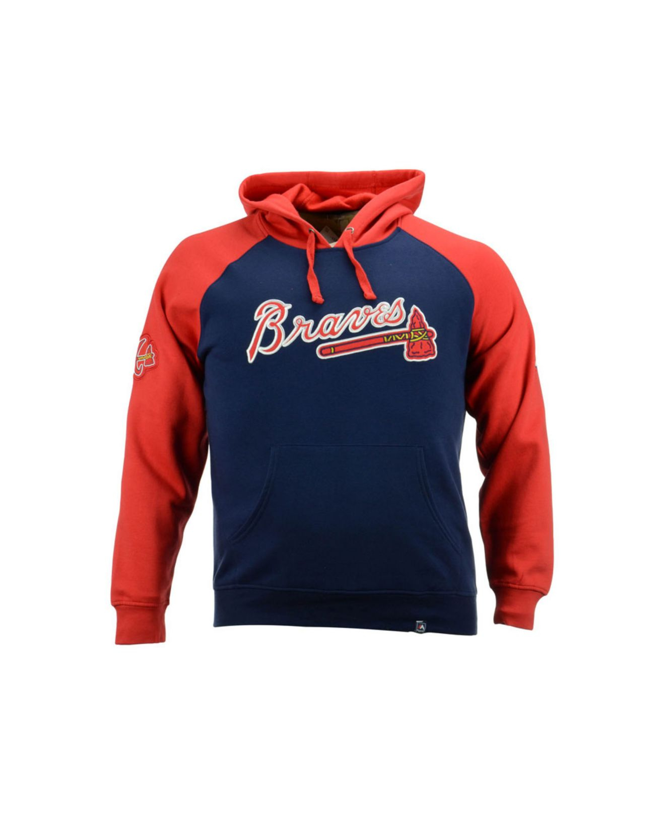 new arrival bf3eb 74ea8 Majestic Blue Men's Atlanta Braves Cunning Play Hoodie for men