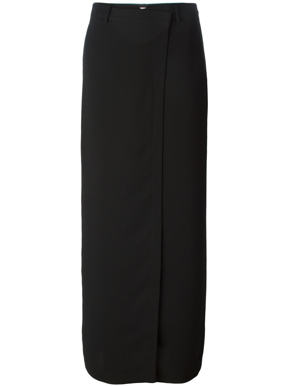 wang high waisted maxi skirt in black lyst