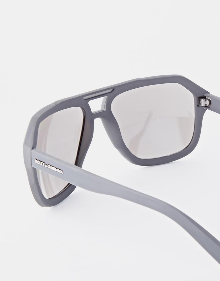 9b3d68ffb21 Lyst - Dolce   Gabbana Aviator Sunglasses in Gray for Men