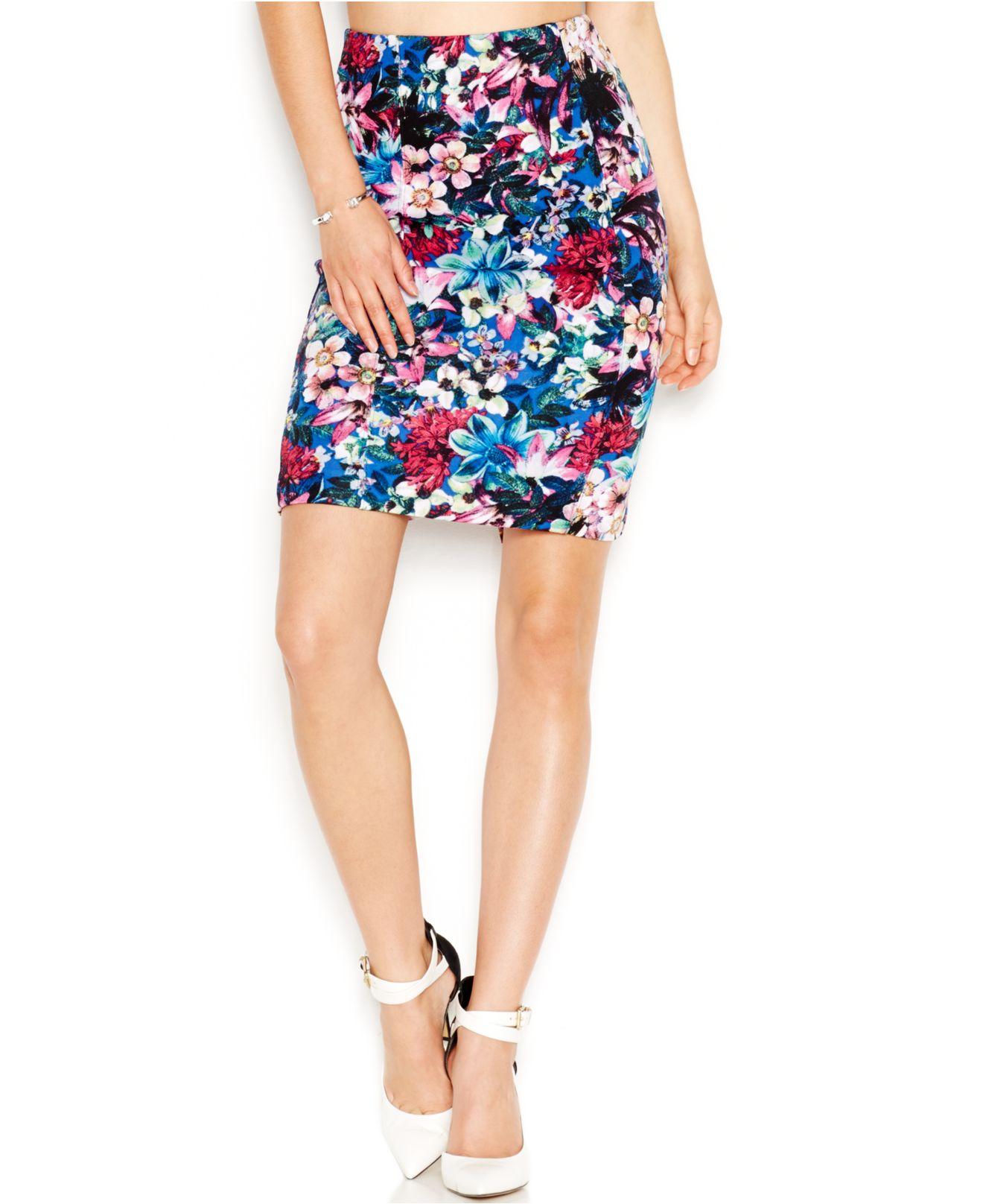 floral pencil skirt - photo #27