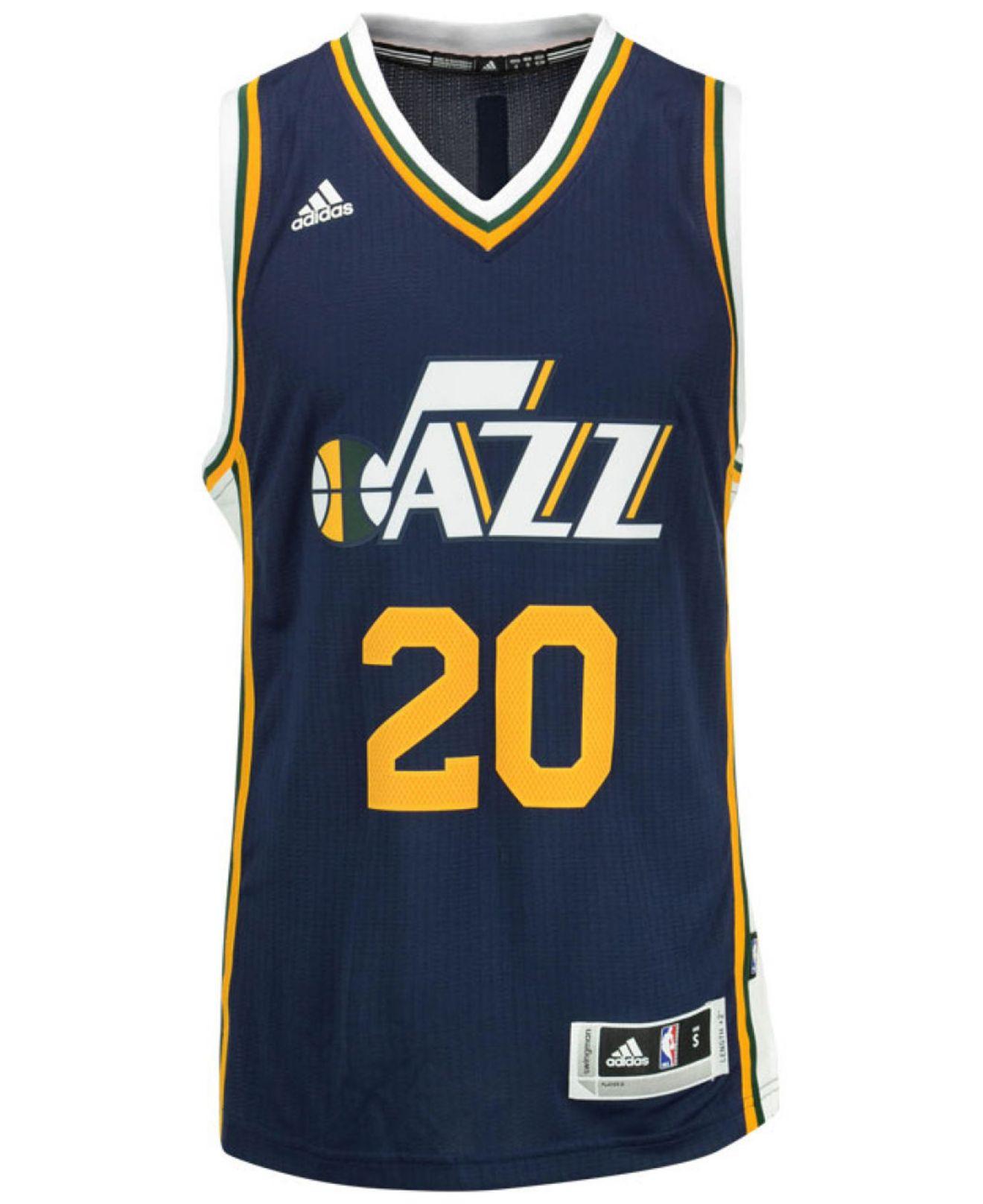 7db5d8a0b Lyst - Adidas Originals Men s Gordon Hayward Utah Jazz Swingman ...