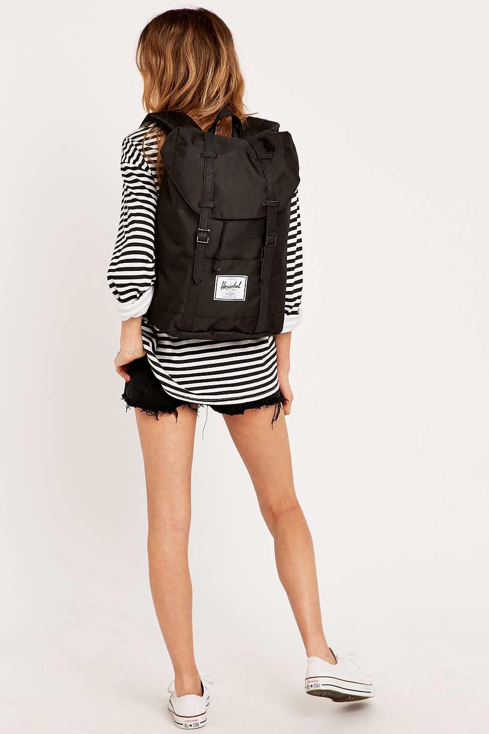 Pierwsze spojrzenie wiele kolorów 100% najwyższej jakości Retreat Black Backpack
