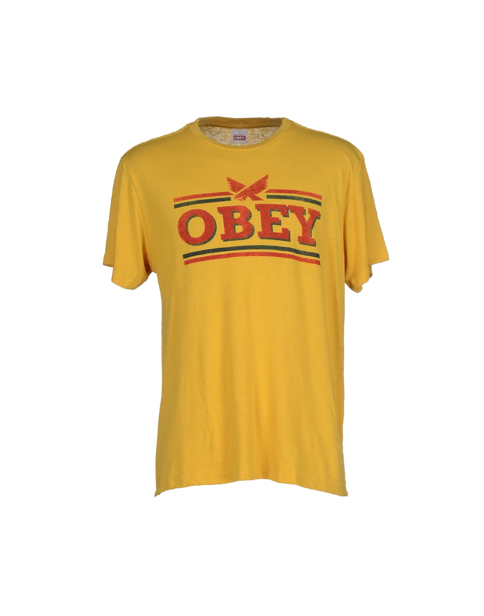 obey t shirt in yellow for men lyst. Black Bedroom Furniture Sets. Home Design Ideas