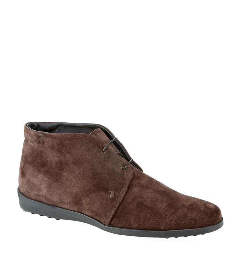 tod 39 s polacco suede desert boot in brown lyst. Black Bedroom Furniture Sets. Home Design Ideas