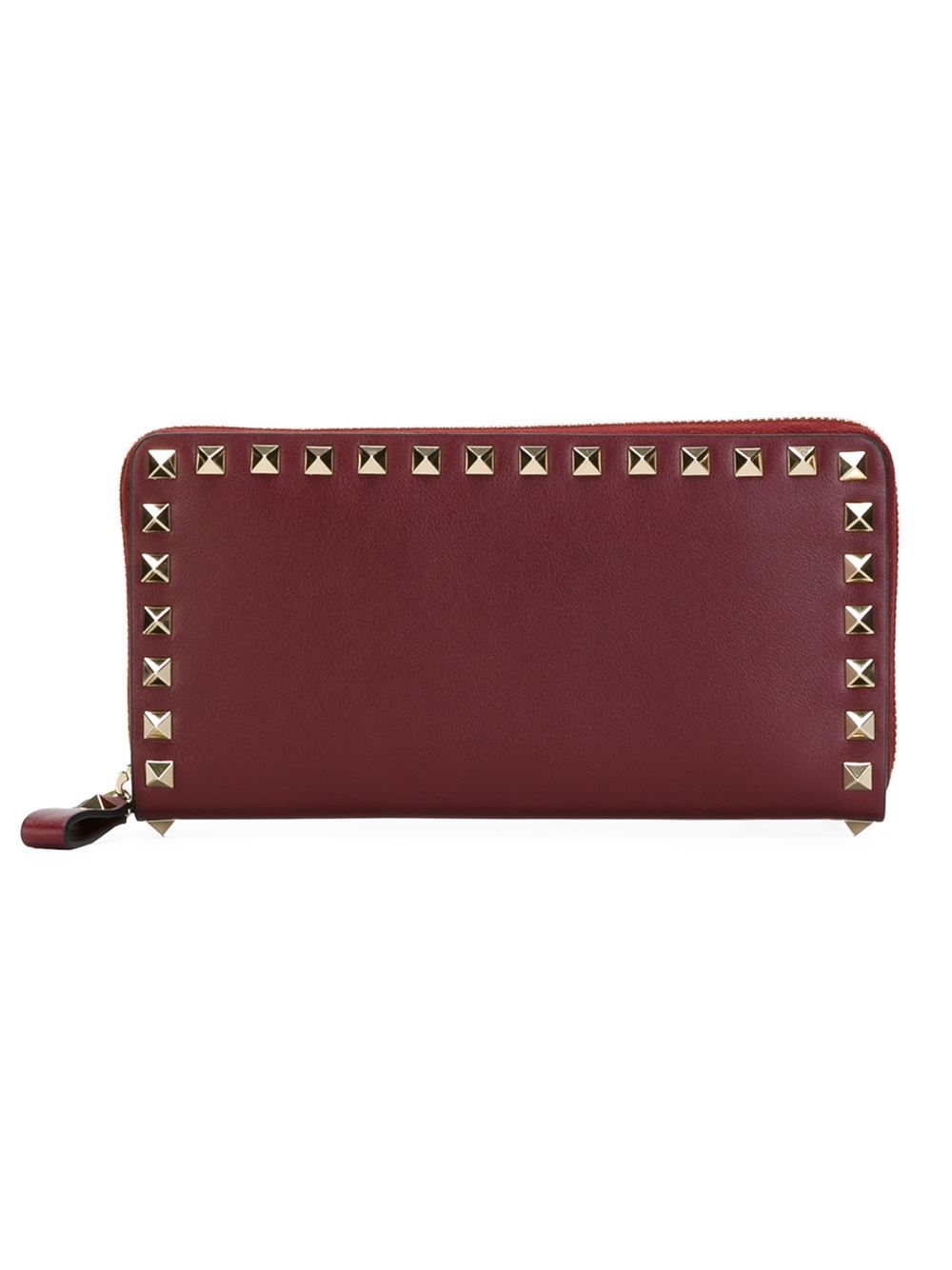 Valentino 'rockstud' Wallet in Red | Lyst