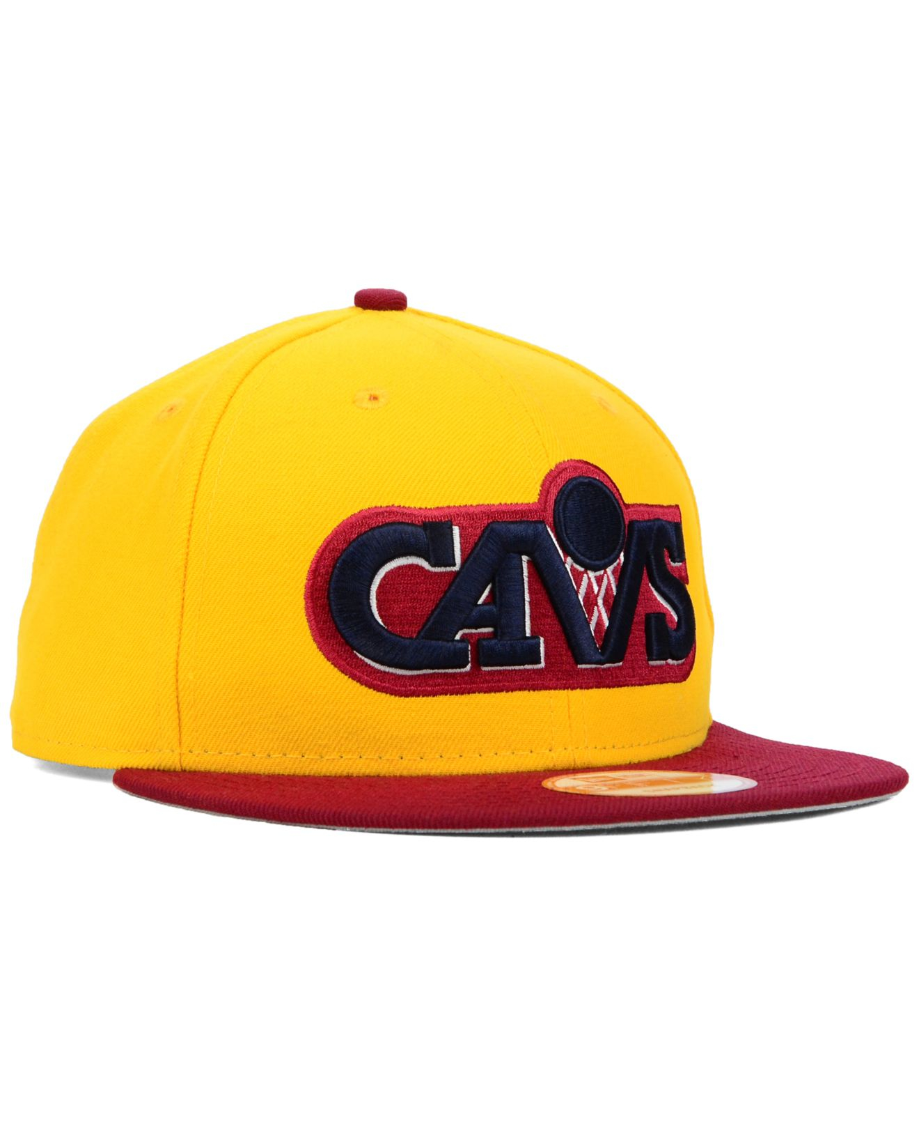 half off b16a3 037e5 KTZ Cleveland Cavaliers Hwc The Land 9fifty Snapback Cap in Yellow ...