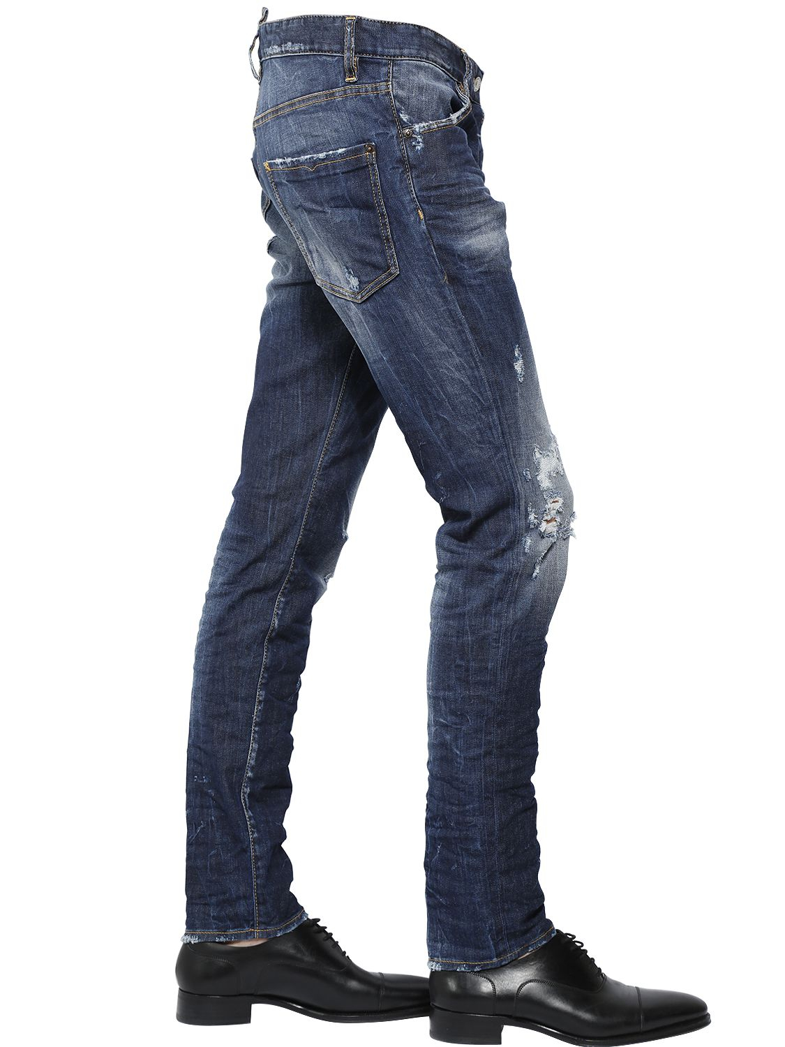 DSquared² 16.5cm Cool Guy Distressed Stretch Jeans in Blue for Men