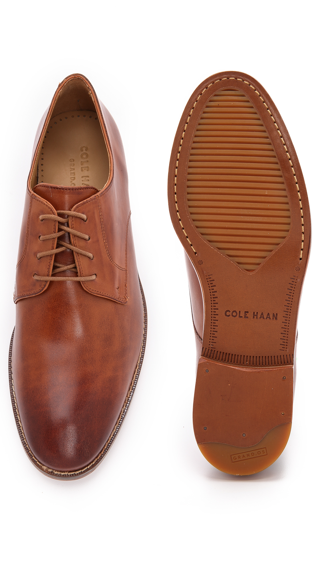 detailed pictures 100% authentic dirt cheap Cole Haan Brown Cambridge Plain Toe Oxfords for men