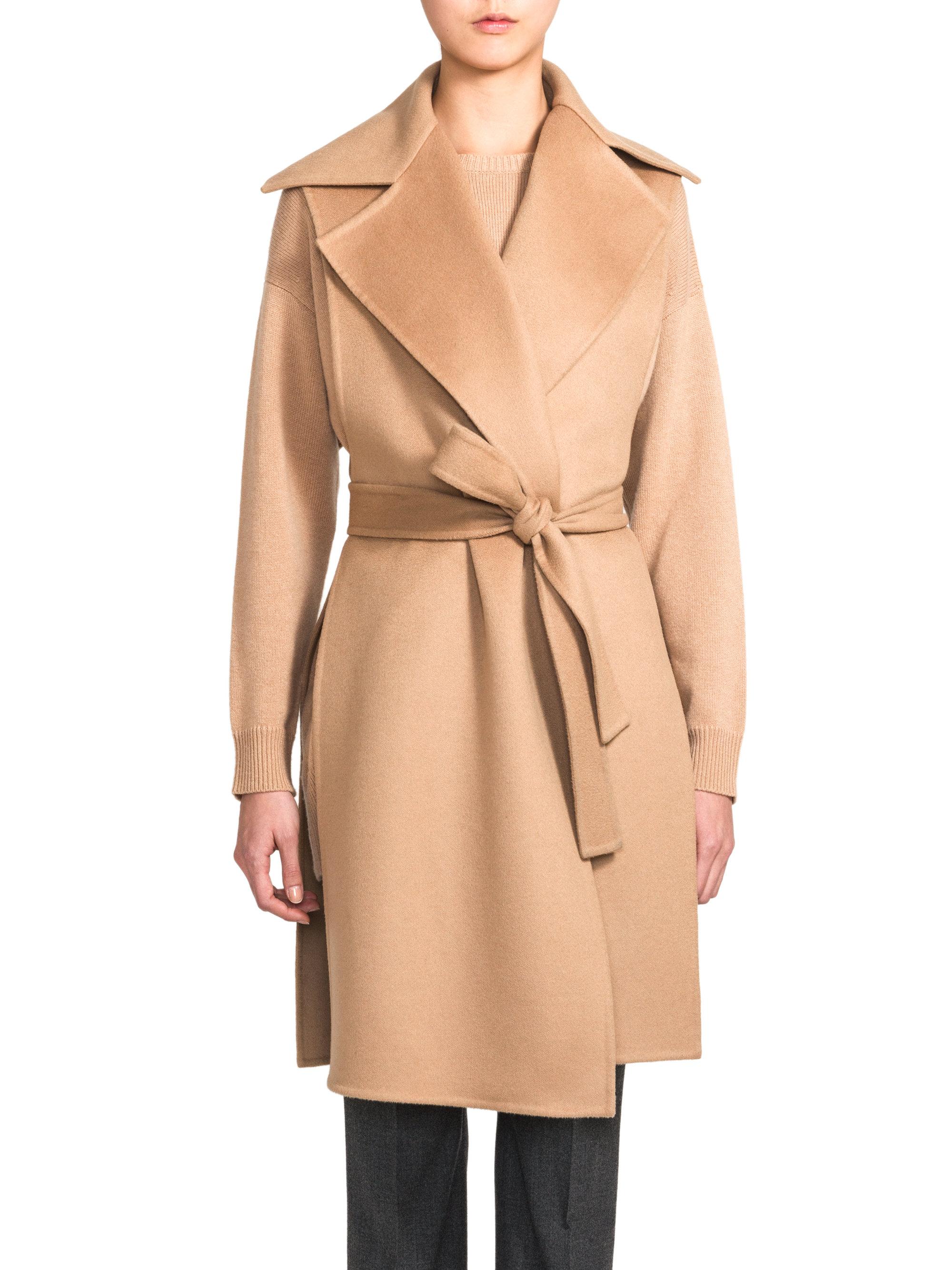 Jil sander Vaduz Belted Wool Cashmere Vest in Natural   Lyst