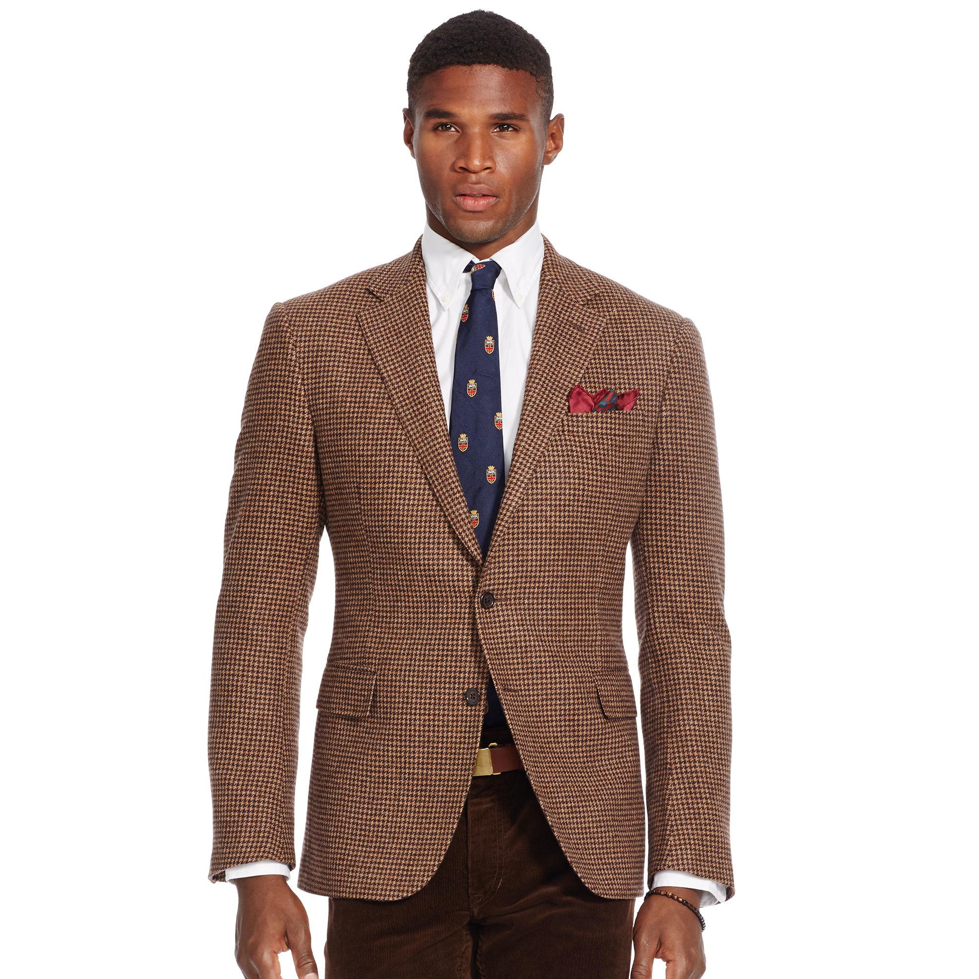 Polo ralph lauren Bedford Houndstooth Sport Coat in Brown for Men ...