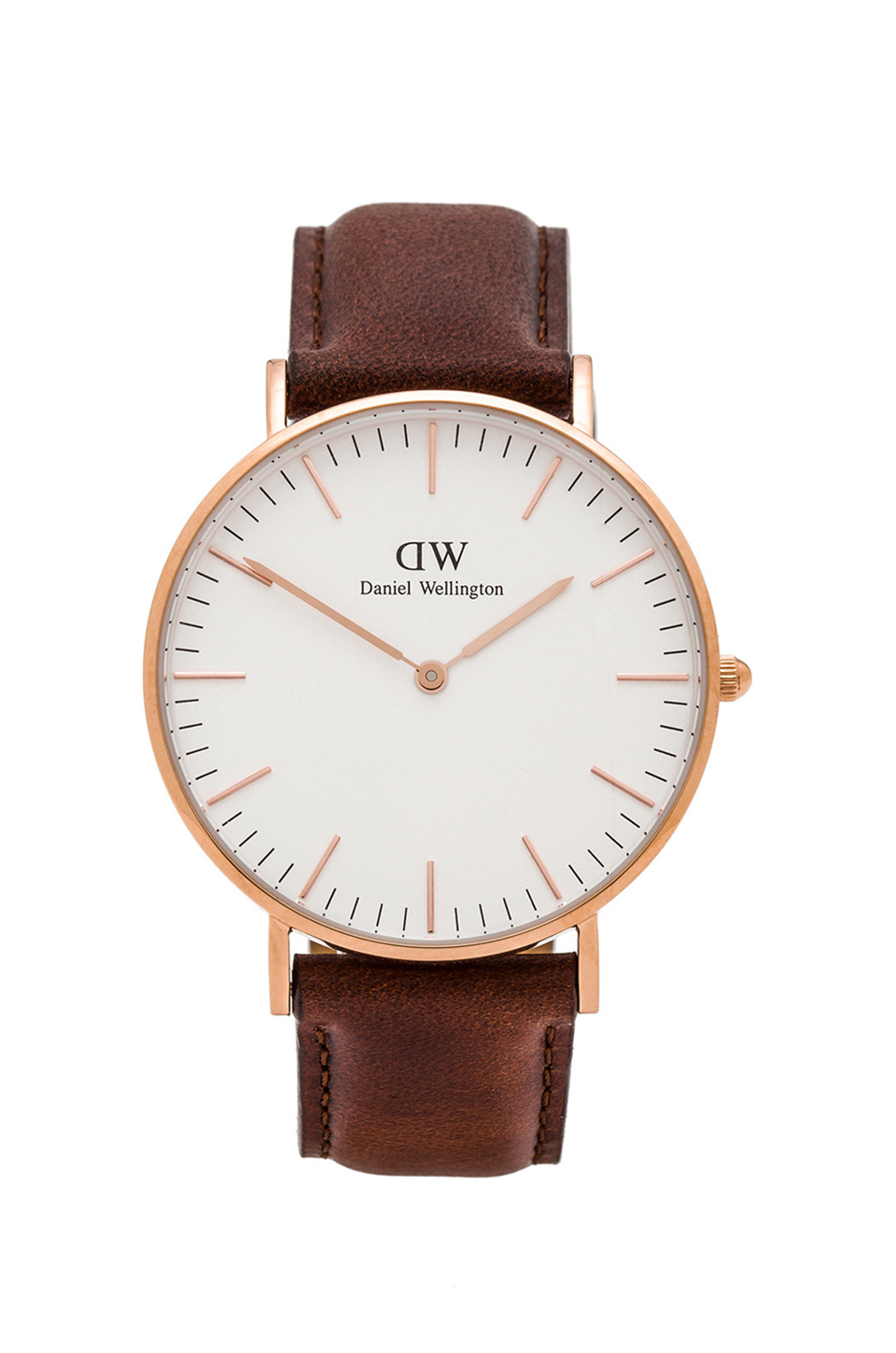 daniel wellington classic st mawes 36mm in brown lyst. Black Bedroom Furniture Sets. Home Design Ideas