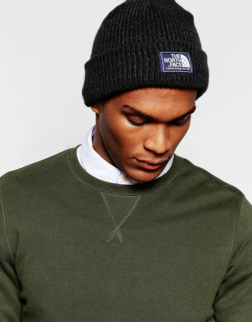 Lyst - The North Face Salty Dog Beanie Hat in Black for Men 0196559e0