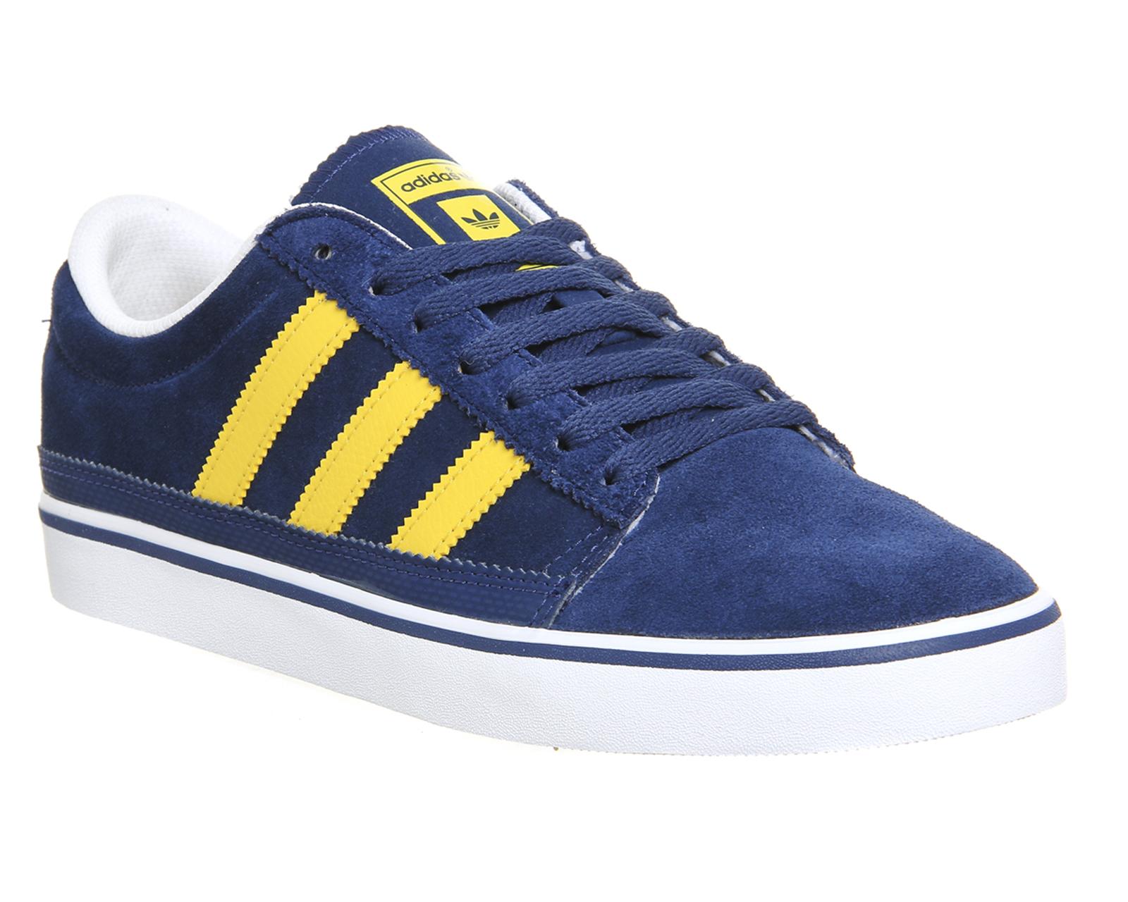 Blue Yellow Stripe Adidas Shoes