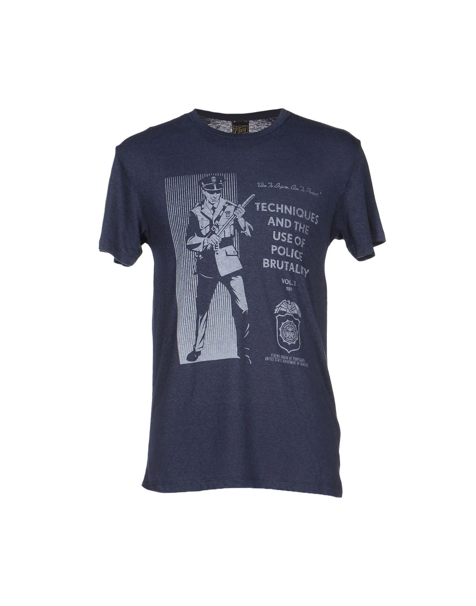 obey t shirt in blue for men dark blue lyst. Black Bedroom Furniture Sets. Home Design Ideas