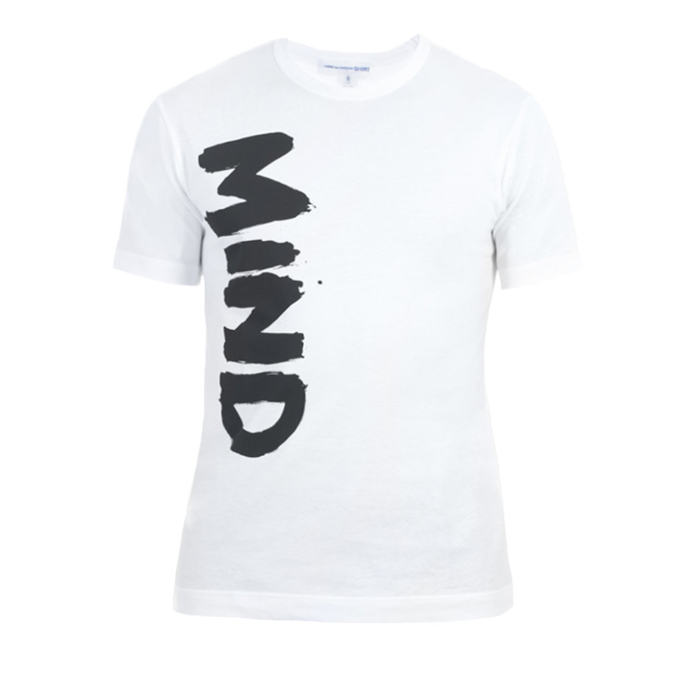 comme des gar ons 39 mind 39 t shirt in white for men lyst. Black Bedroom Furniture Sets. Home Design Ideas