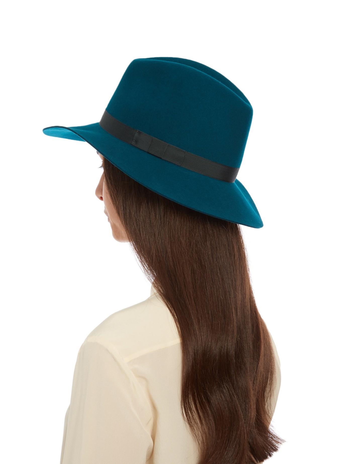7e5d036c3 Rag & Bone Green Floppy Brim Wool-felt Fedora Hat