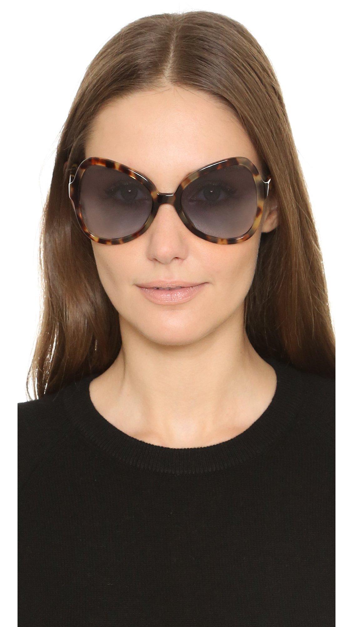 prada purse pictures - Prada Butterfly Sunglasses in Blue (Medium Havana/Blue)   Lyst