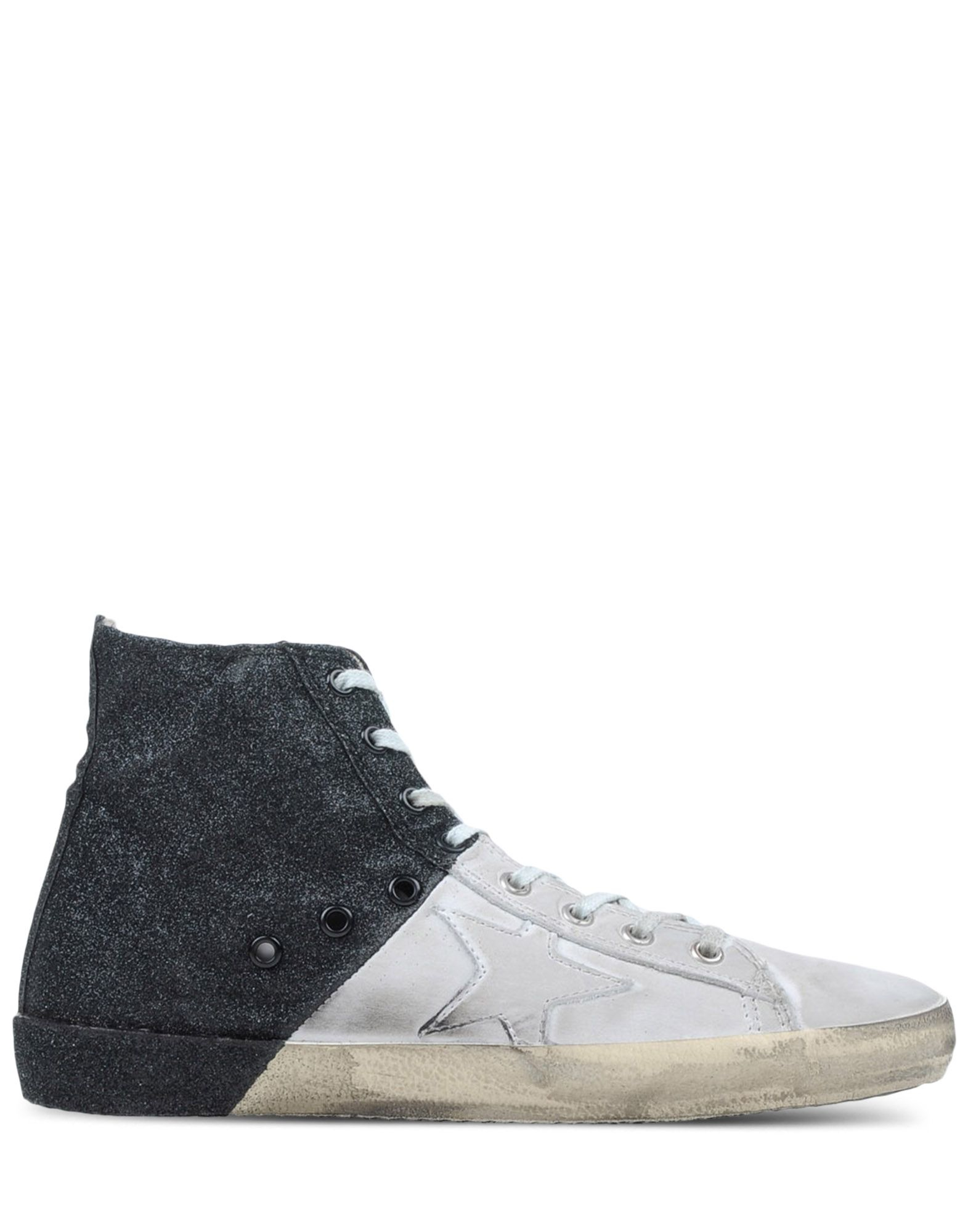 golden goose deluxe brand francy two toned glitter high top sneakers in gray for men white lyst. Black Bedroom Furniture Sets. Home Design Ideas