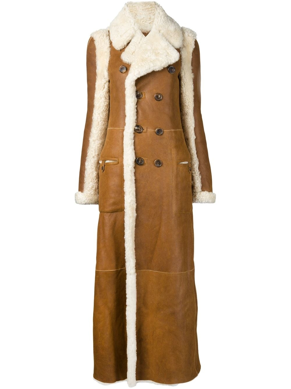 Chlo 233 Reversible Shearling Coat In Brown Lyst