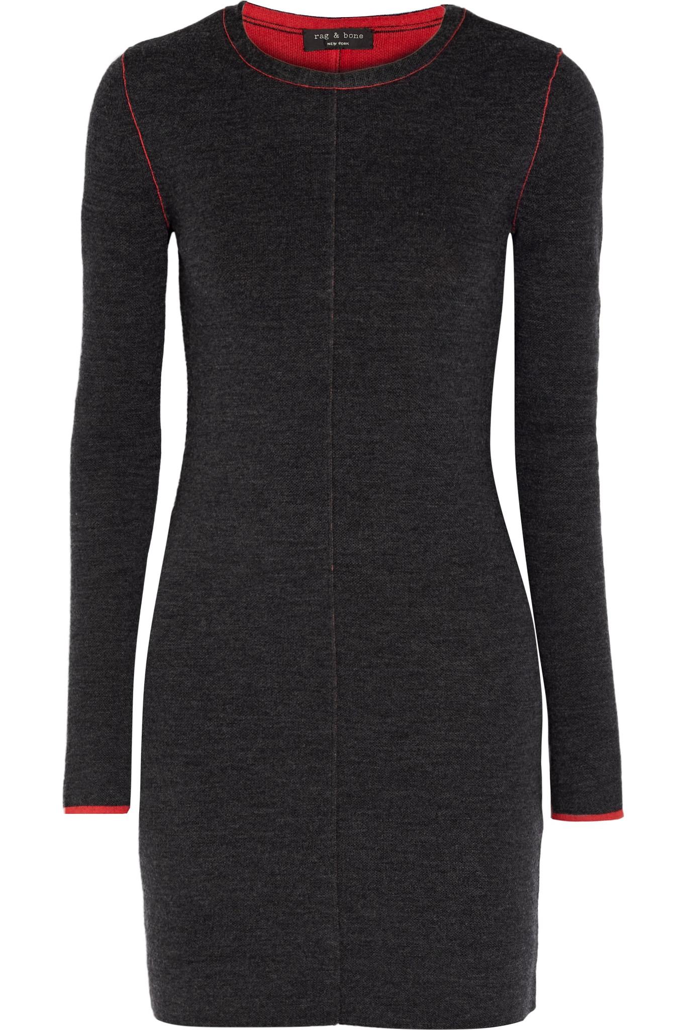 3939dd733db Rag   Bone Merino Wool Sweater Dress in Gray - Lyst