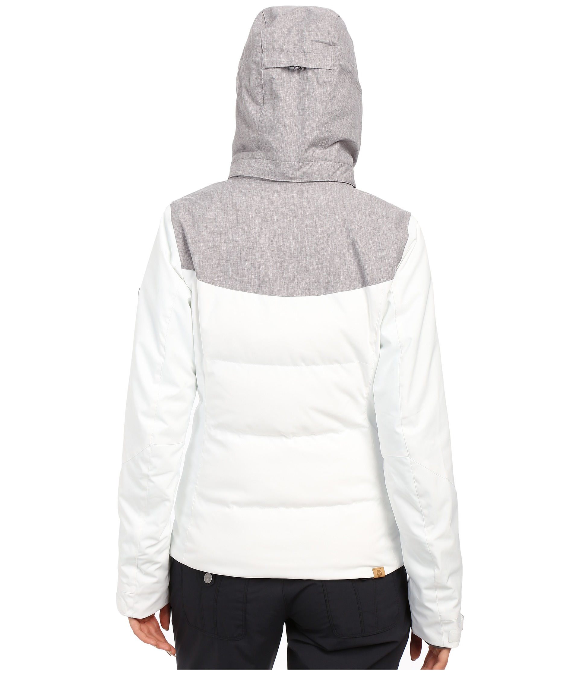Lyst - Roxy Flicker Snow Jacket in White 9d0b5c37c