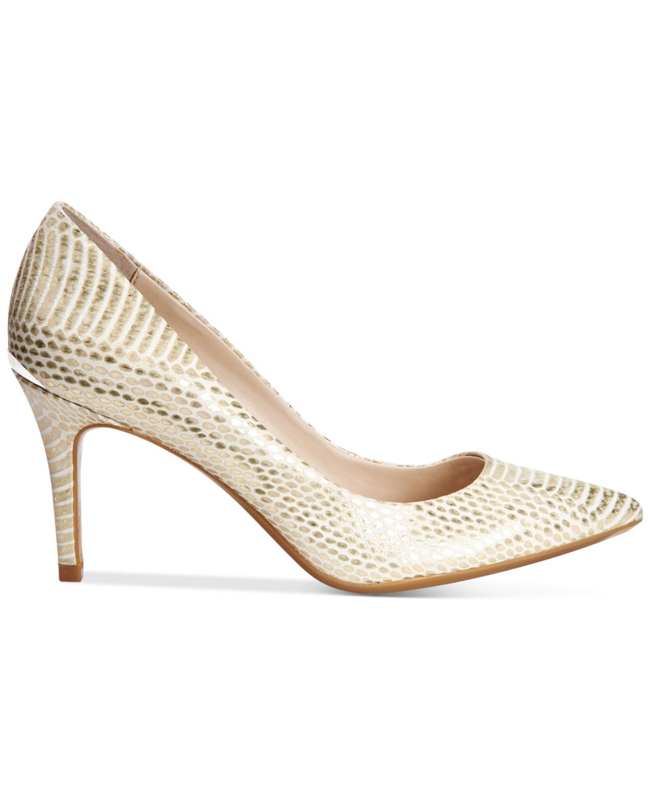 3b47433450fb3 Calvin Klein Metallic Women's Gayle Pointed-toe Pumps
