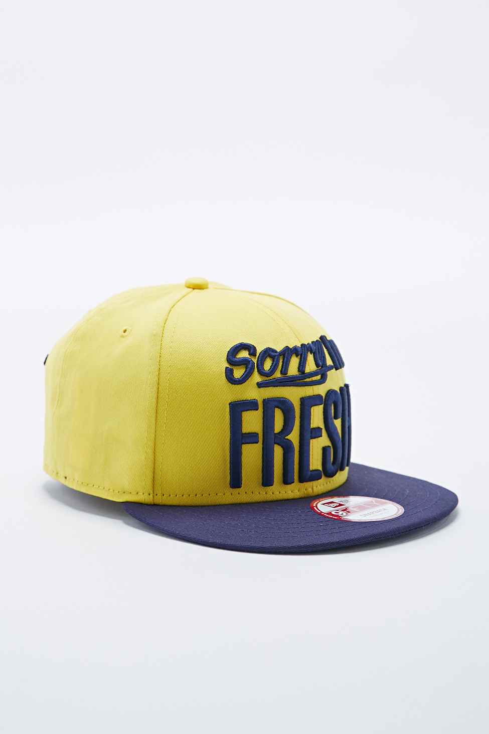 96326a4a989 KTZ 9Fifty Sorry I M Fresh Snapback Cap In Yellow in Yellow for Men ...