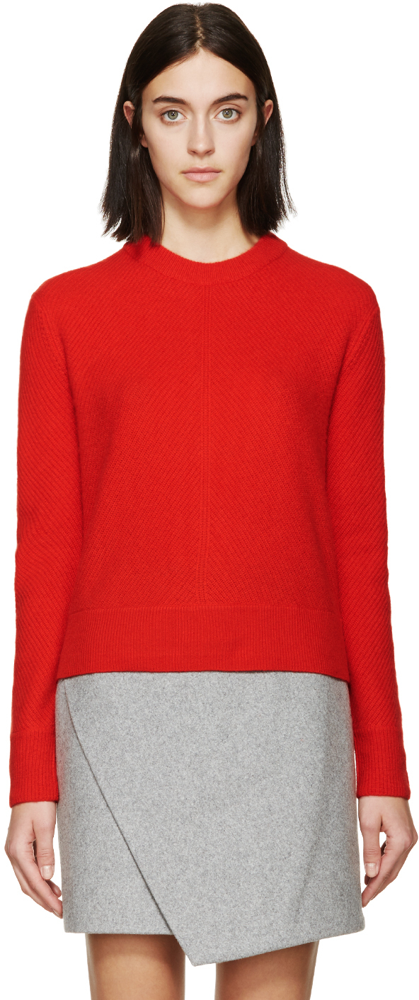 Rag & bone Red Cashmere Alexis Sweater in Red | Lyst