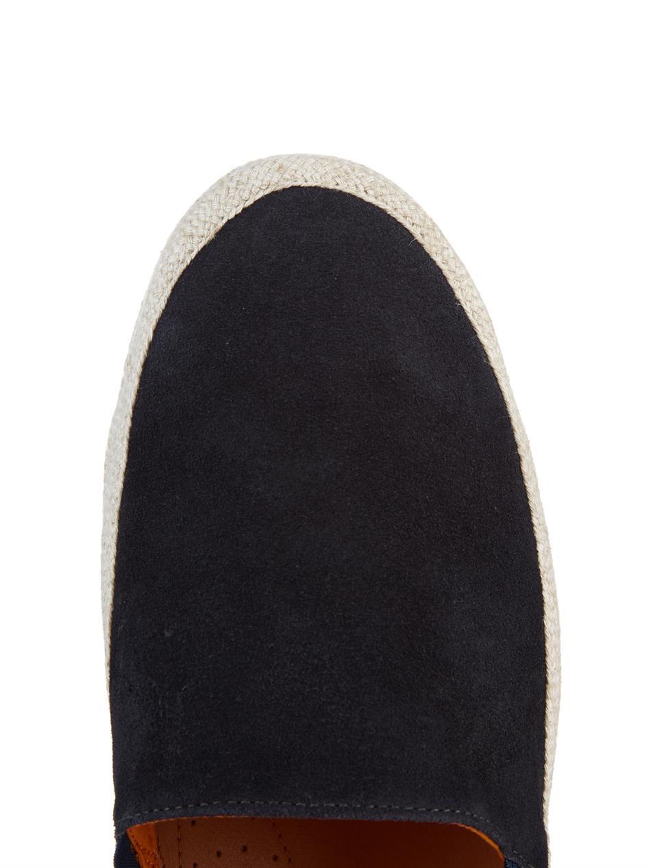 Mulo Suede Bi-Colour Slip-On Espadrilles in Navy (Blue) for Men